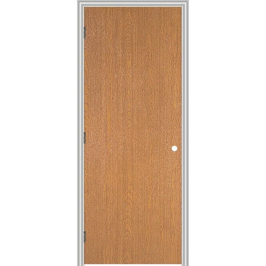ReliaBilt (Unfinished) Prehung Hollow Core Flush Lauan Interior Door (Common: 28-in x 80-in; Actual: 29.563-in x 81.687-in)