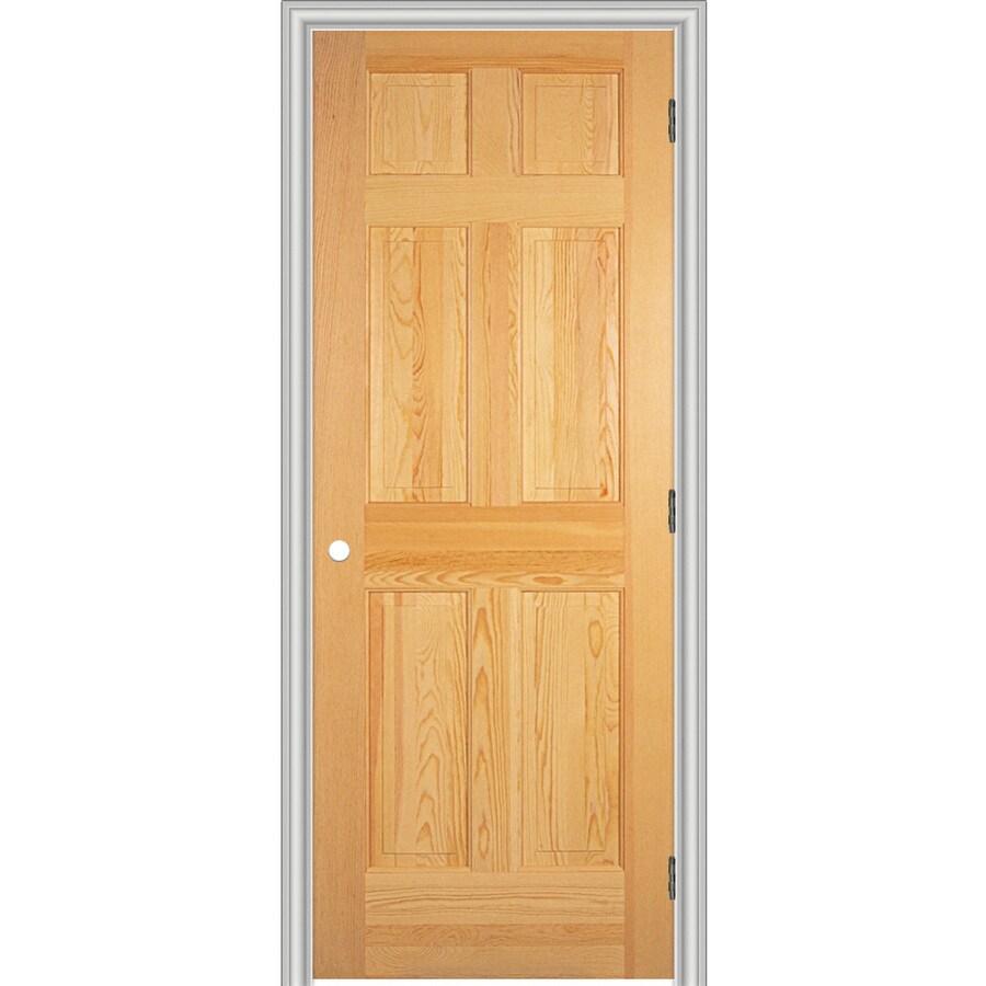 ReliaBilt Prehung Solid Core 6-Panel Pine Interior Door (Common: 36-in x 80-in; Actual: 37.562-in x 81.688-in)