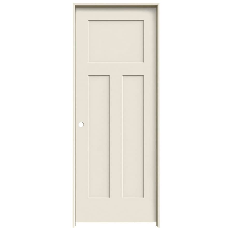 ReliaBilt Prehung Hollow Core 3-Panel Craftsman Interior Door (Common: 24-in x 80-in; Actual: 25.562-in x 81.688-in)