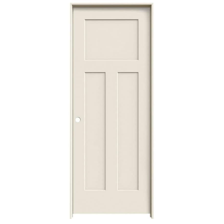 ReliaBilt Prehung Hollow Core 3-Panel Craftsman Interior Door (Common: 28-in x 80-in; Actual: 29.562-in x 81.688-in)