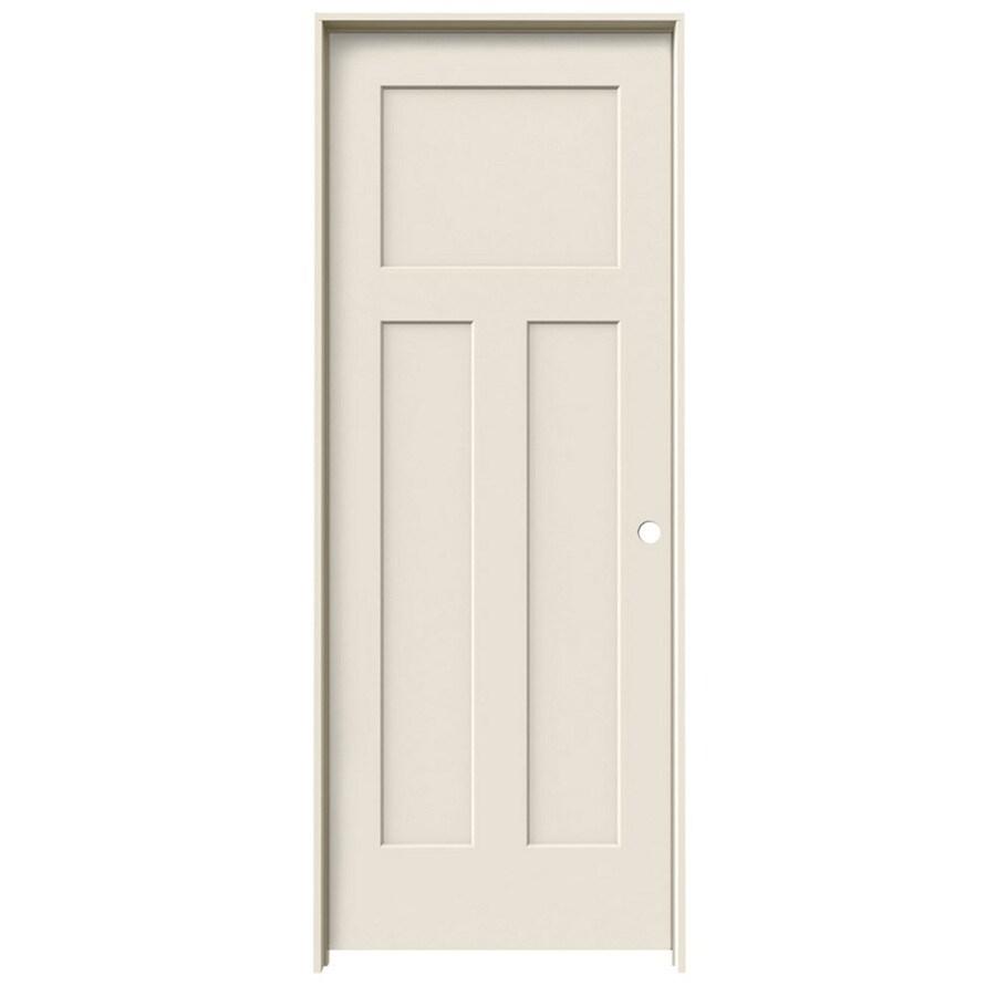 ReliaBilt Prehung Hollow Core 3-Panel Craftsman Interior Door (Common: 30-in x 80-in; Actual: 31.562-in x 81.688-in)