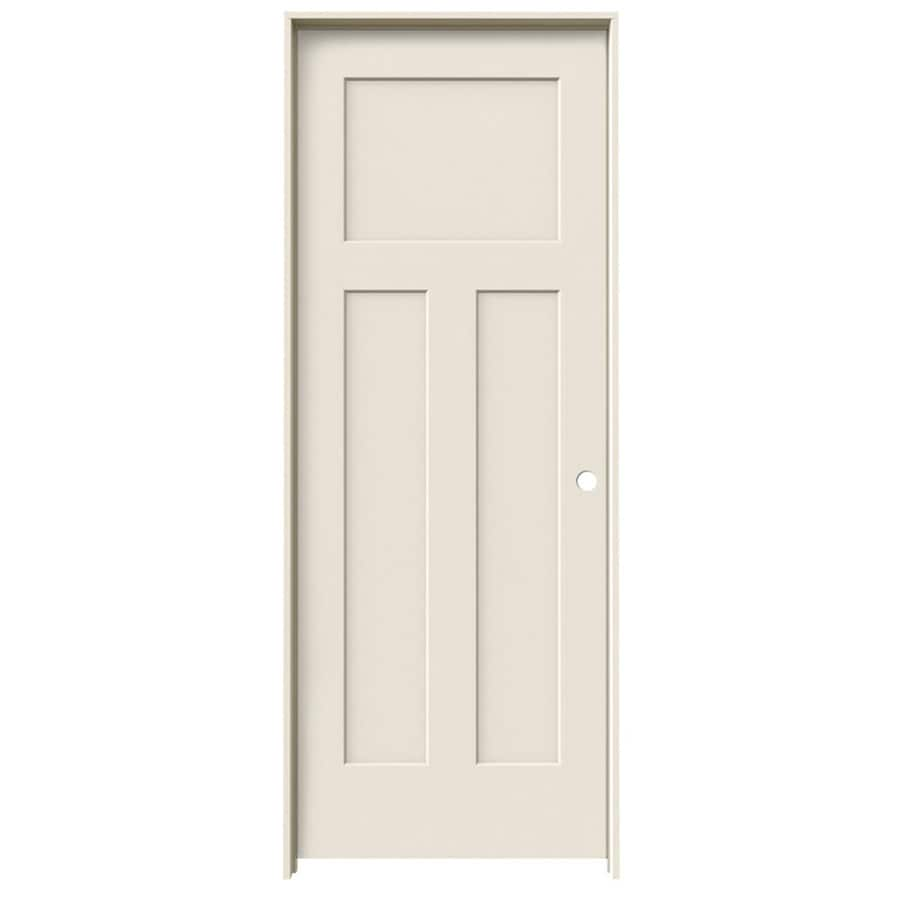 ReliaBilt Prehung Hollow Core 3-Panel Craftsman Interior Door (Common: 32-in x 80-in; Actual: 33.562-in x 81.688-in)