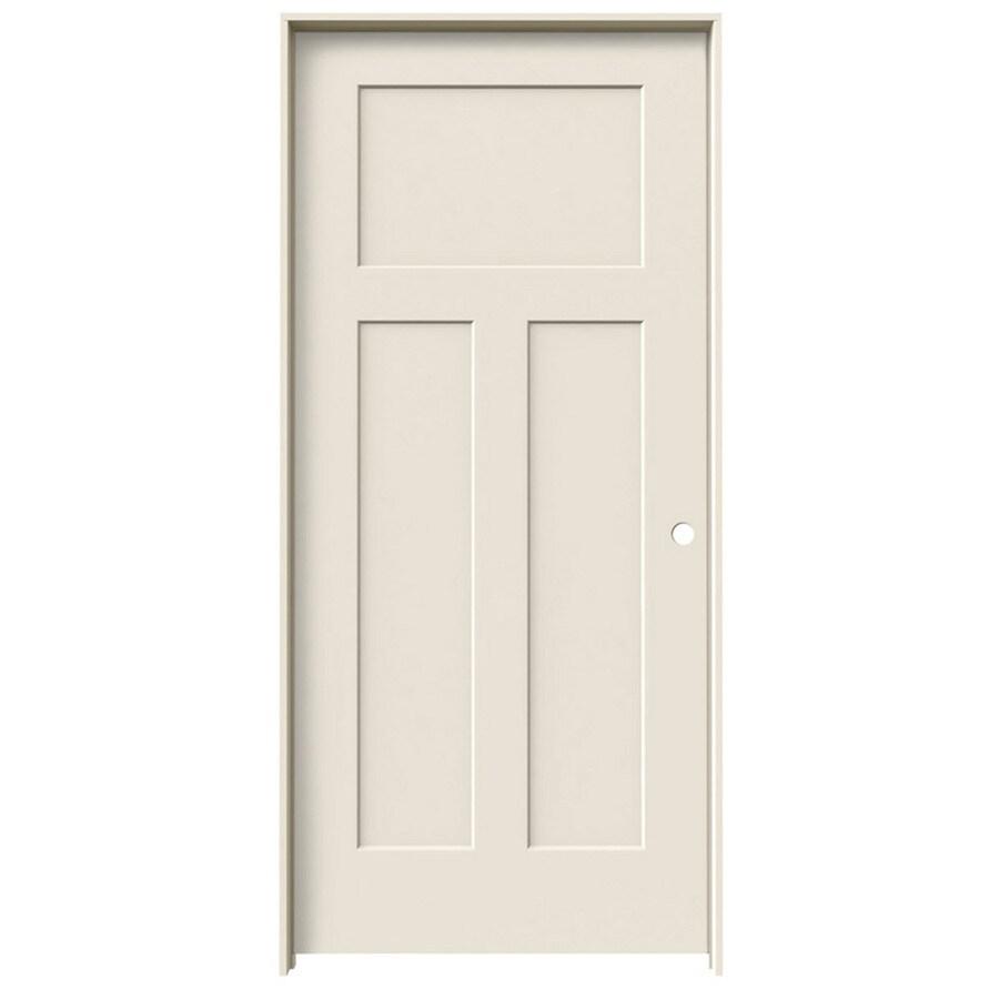 ReliaBilt Prehung Hollow Core 3-Panel Craftsman Interior Door (Common: 36-in x 80-in; Actual: 37.562-in x 81.688-in)