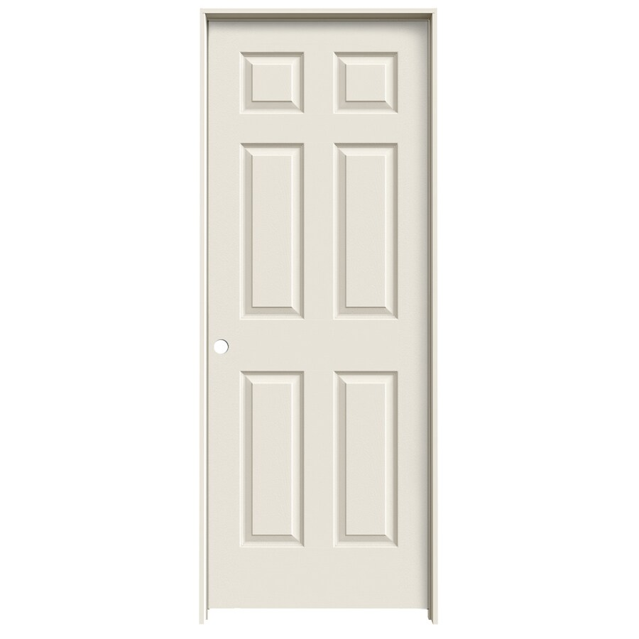 JELD-WEN Prehung Hollow Core 6-Panel Interior Door (Common: 24-in x 80-in; Actual: 25.562-in x 81.688-in)