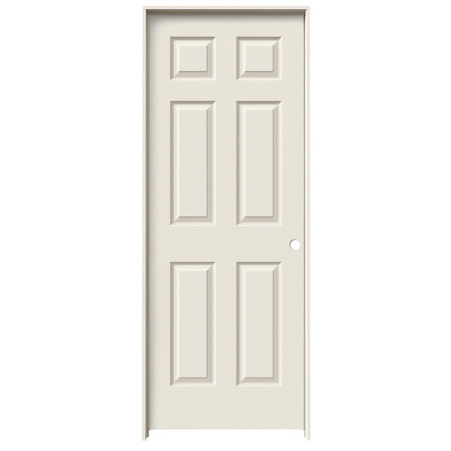 Shop Jeld Wen Prehung Hollow Core 6 Panel Interior Door Common 30 In X 80 In Actual