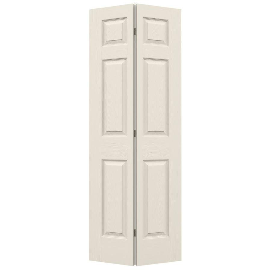 JELD-WEN Hollow Core 6-Panel Bi-Fold Closet Interior Door (Common: 28-in x 80-in; Actual: 27.5-in x 79-in)