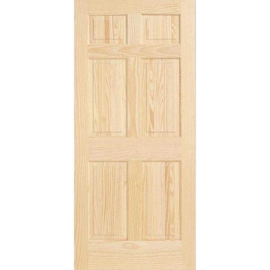JELD-WEN Solid Core 6-Panel Pine Slab Interior Door (Common: 32-in x 80-in; Actual: 32-in x 80-in)