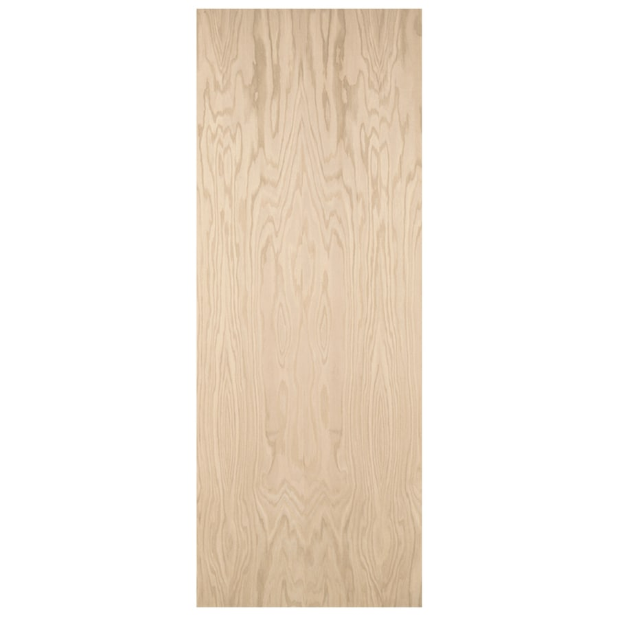 JELD-WEN Hollow Core Flush Oak Slab Interior Door (Common: 36-in x 80-in; Actual: 36-in x 80-in)