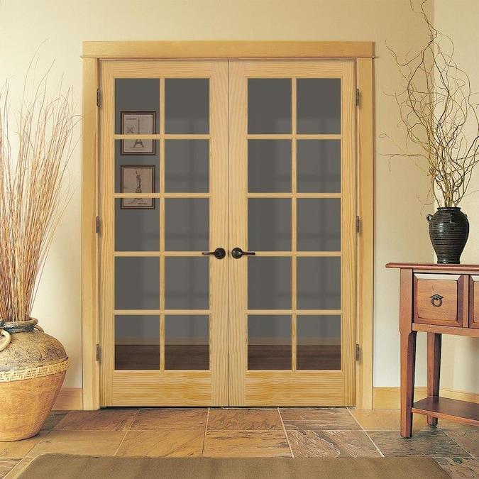 JELD-WEN Prehung Solid Core 10-Lite Clear Glass Pine Interior Door (Common: 48-in x 80-in