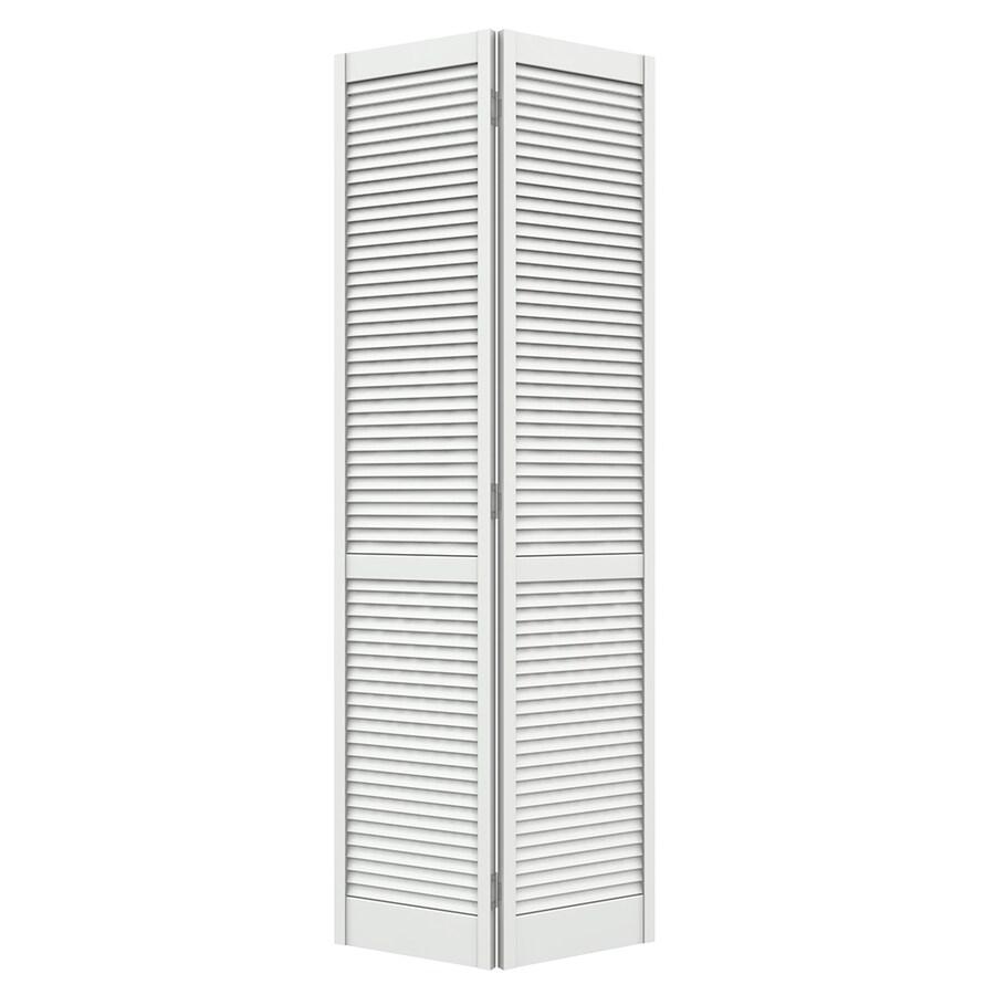 JELD-WEN White Full Louver Pine Bi-Fold Closet Interior Door (Common: 36-in x 80-in; Actual: 35.5-in x 79-in)