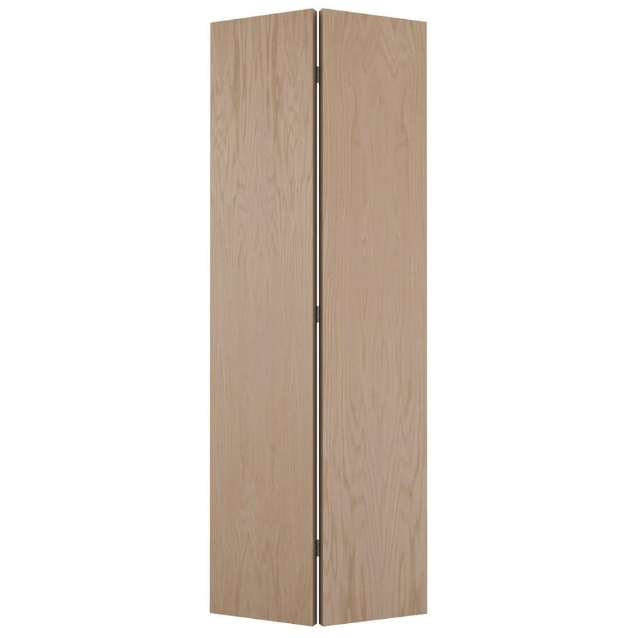 JELD-WEN Hollow Core Flush Oak Bi-Fold Closet Interior Door (Common: 24-in x 80-in; Actual: 23.5-in x 79-in)