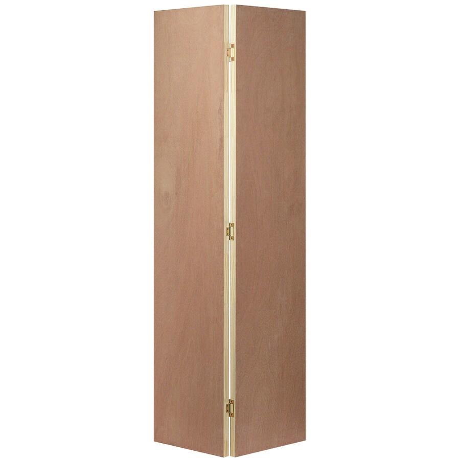 JELD-WEN Hollow Core Flush Lauan Bi-Fold Closet Interior Door (Common: 30-in x 80-in; Actual: 29.5-in x 79-in)