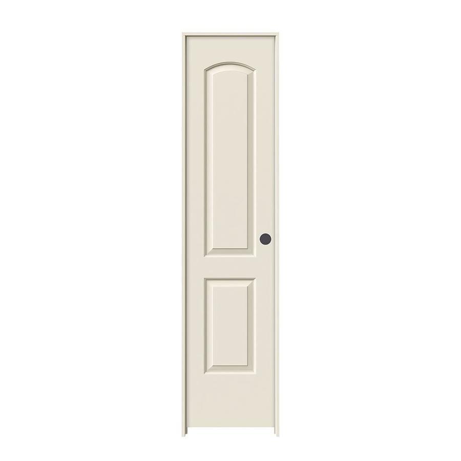 JELD-WEN Prehung Hollow Core 2-Panel Round Top Interior Door (Common: 18-in x 80-in; Actual: 19.562-in x 81.688-in)
