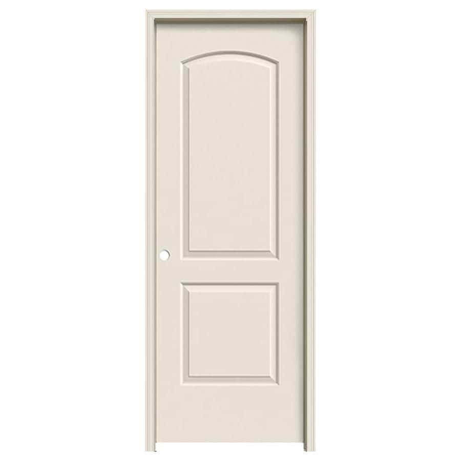 JELD-WEN Prehung Hollow Core 2-Panel Round Top Interior Door (Common: 24-in x 80-in; Actual: 25.562-in x 81.688-in)