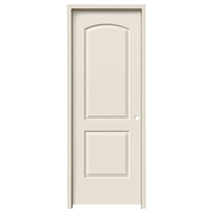 JELD-WEN Prehung Hollow Core 2-Panel Round Top Interior Door (Common: 30-in x 80-in; Actual: 31.562-in x 81.688-in)