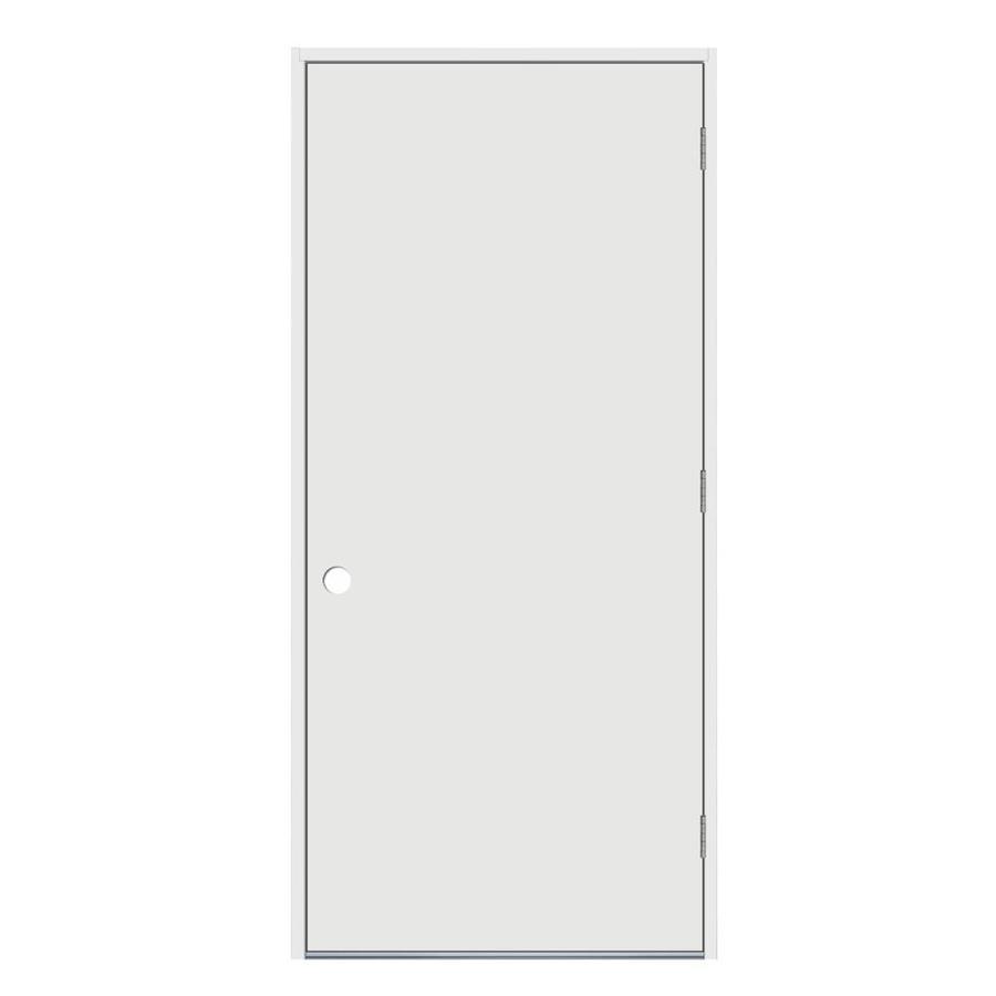 Shop jeld wen flush insulating core left hand outswing for Flush exterior door
