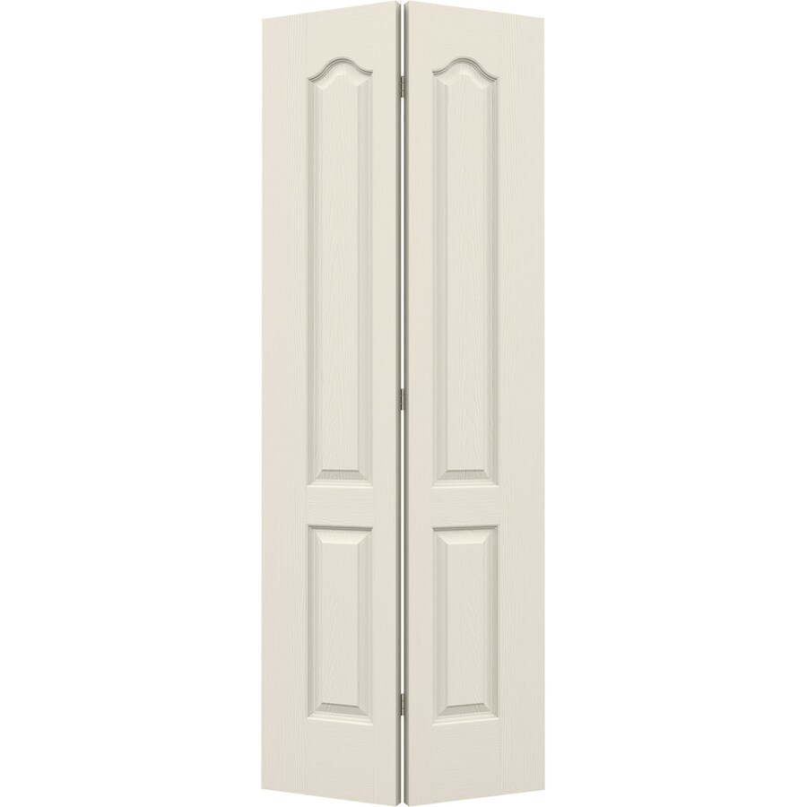 JELD-WEN Hollow Core 2-Panel Arch Top Bi-Fold Closet Interior Door (Common: 36-in x 80-in; Actual: 35.5-in x 79-in)