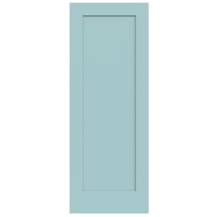 JELD-WEN Madison Sea Mist Hollow Core 1-Panel Slab Interior Door (Common: 30-in x 80-in; Actual: 30-in x 80-in)