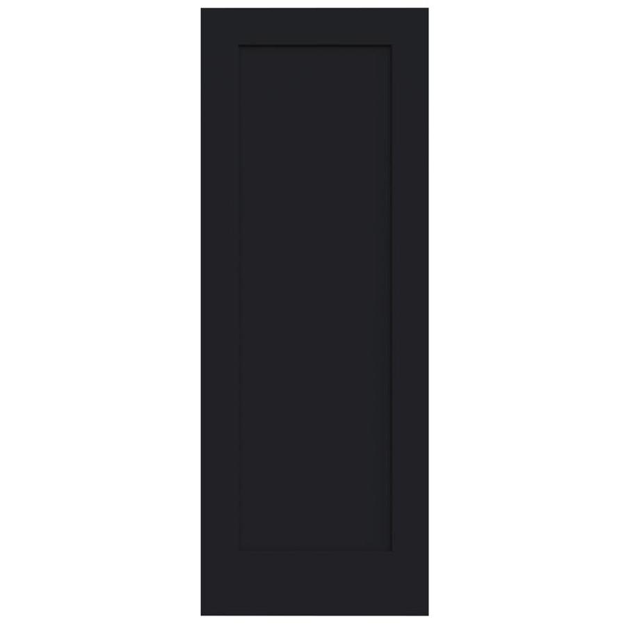 JELD-WEN Madison Midnight Solid Core 1-Panel Slab Interior Door (Common: 30-in x 80-in; Actual: 30-in x 80-in)