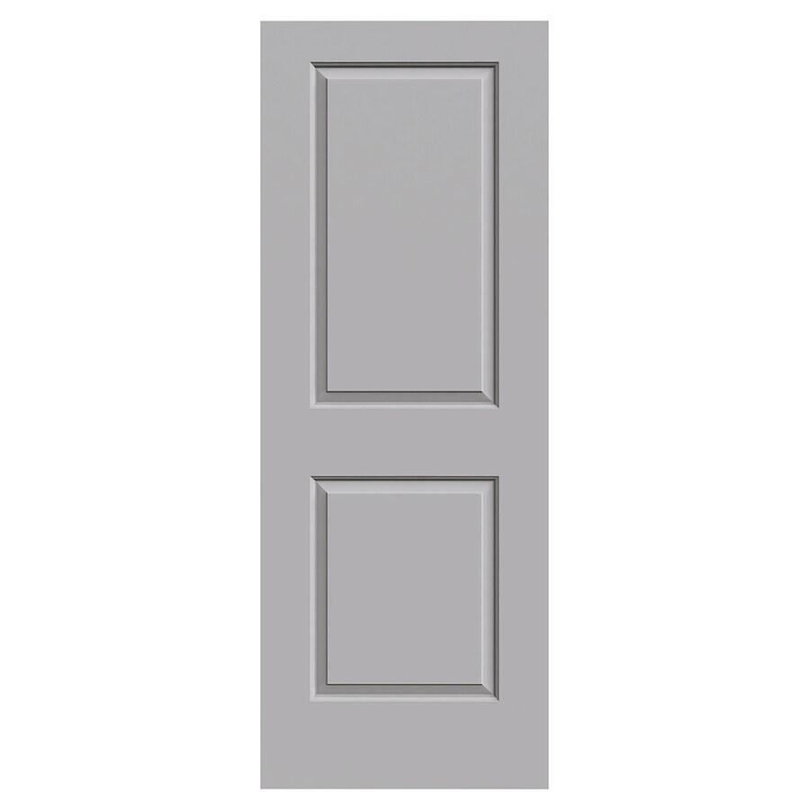 JELD-WEN Cambridge Driftwood Solid Core 2-Panel Square Slab Interior Door (Common: 30-in x 80-in; Actual: 30-in x 80-in)