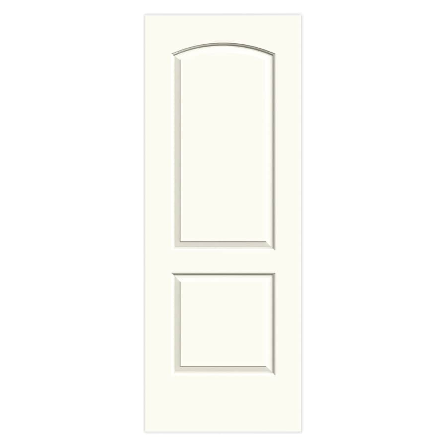 JELD-WEN Continental White Hollow Core 2-Panel Round Top Slab Interior Door (Common: 30-in x 80-in; Actual: 30-in x 80-in)