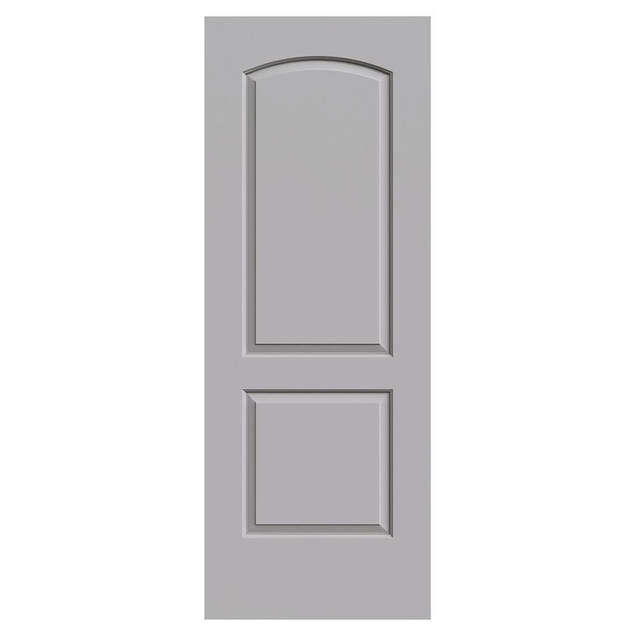 JELD-WEN Continental Driftwood Hollow Core 2-Panel Round Top Slab Interior Door (Common: 30-in x 80-in; Actual: 30-in x 80-in)