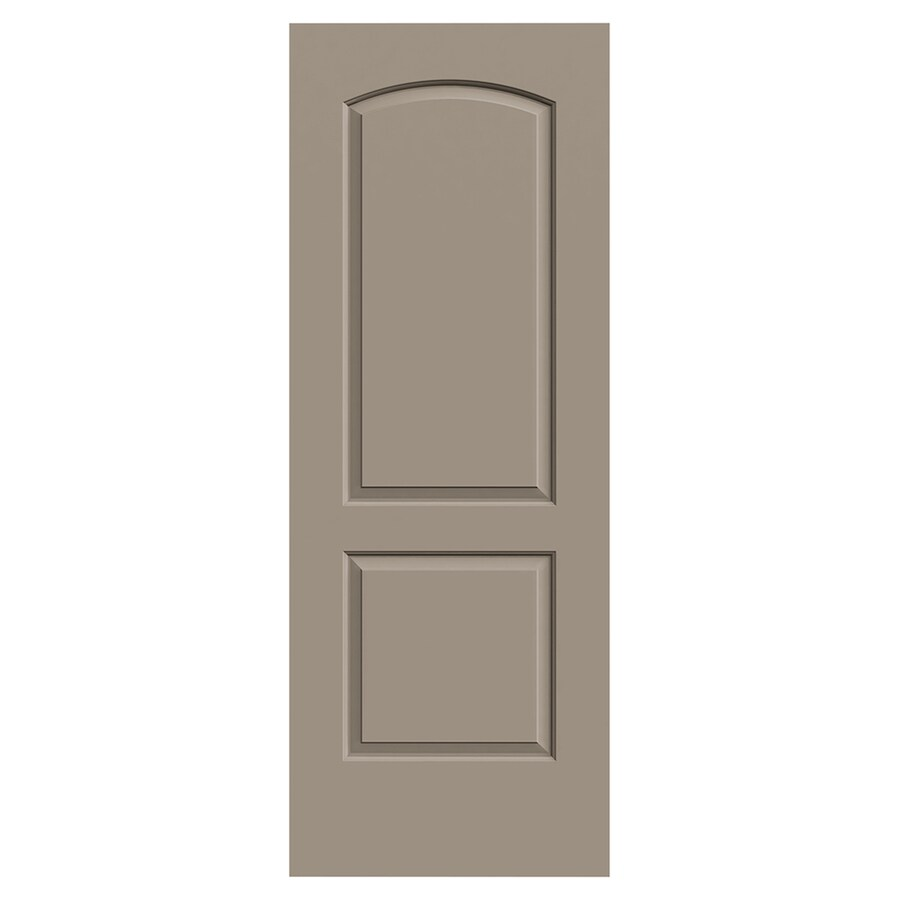 JELD-WEN Continental Sand Piper Hollow Core 2-Panel Round Top Slab Interior Door (Common: 30-in x 80-in; Actual: 30-in x 80-in)
