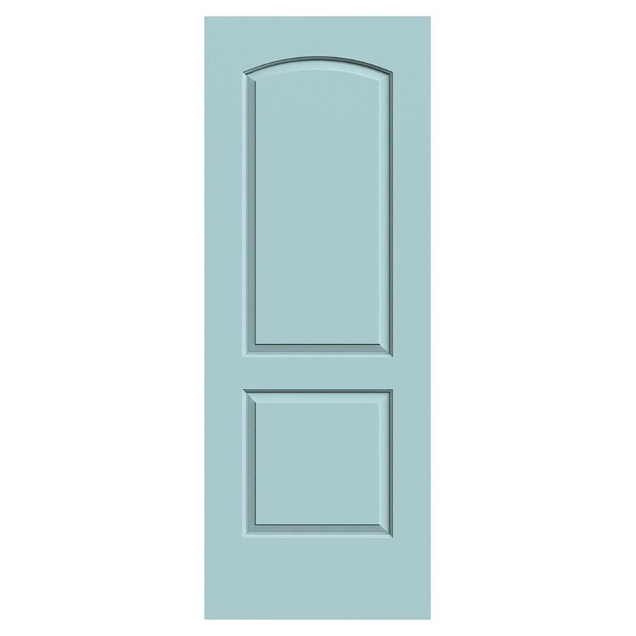 JELD-WEN Continental Sea Mist Solid Core 2-Panel Round Top Slab Interior Door (Common: 30-in x 80-in; Actual: 30-in x 80-in)