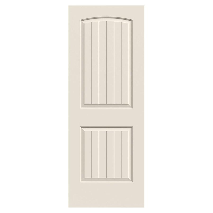 JELD-WEN Santa Fe Solid Core 2-Panel Round Top Plank Slab Interior Door (Common: 30-in x 80-in; Actual: 30-in x 80-in)