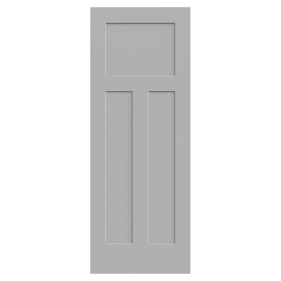 JELD-WEN Craftsman Driftwood Hollow Core 3-Panel Craftsman Slab Interior Door (Common: 30-in x 80-in; Actual: 30-in x 80-in)