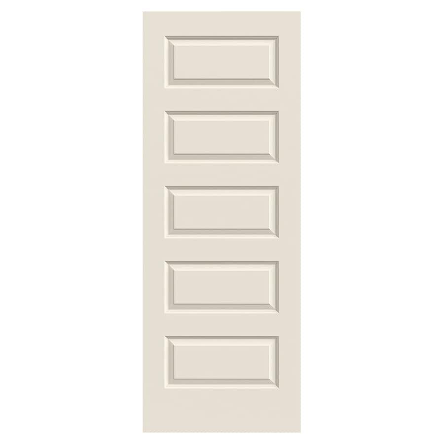 JELD-WEN Rockport Hollow Core 5-Panel Equal Slab Interior Door (Common: 30-in x 80-in; Actual: 30-in x 80-in)
