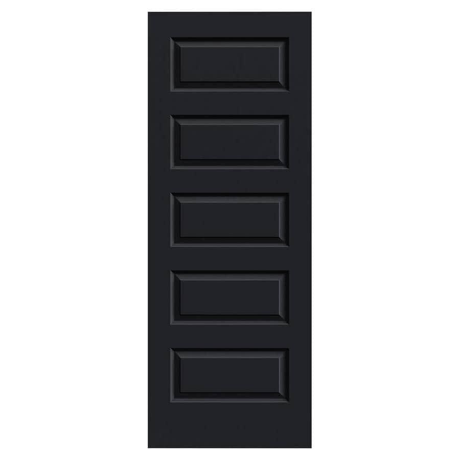 JELD-WEN Rockport Midnight Hollow Core 5-Panel Equal Slab Interior Door (Common: 30-in x 80-in; Actual: 30-in x 80-in)