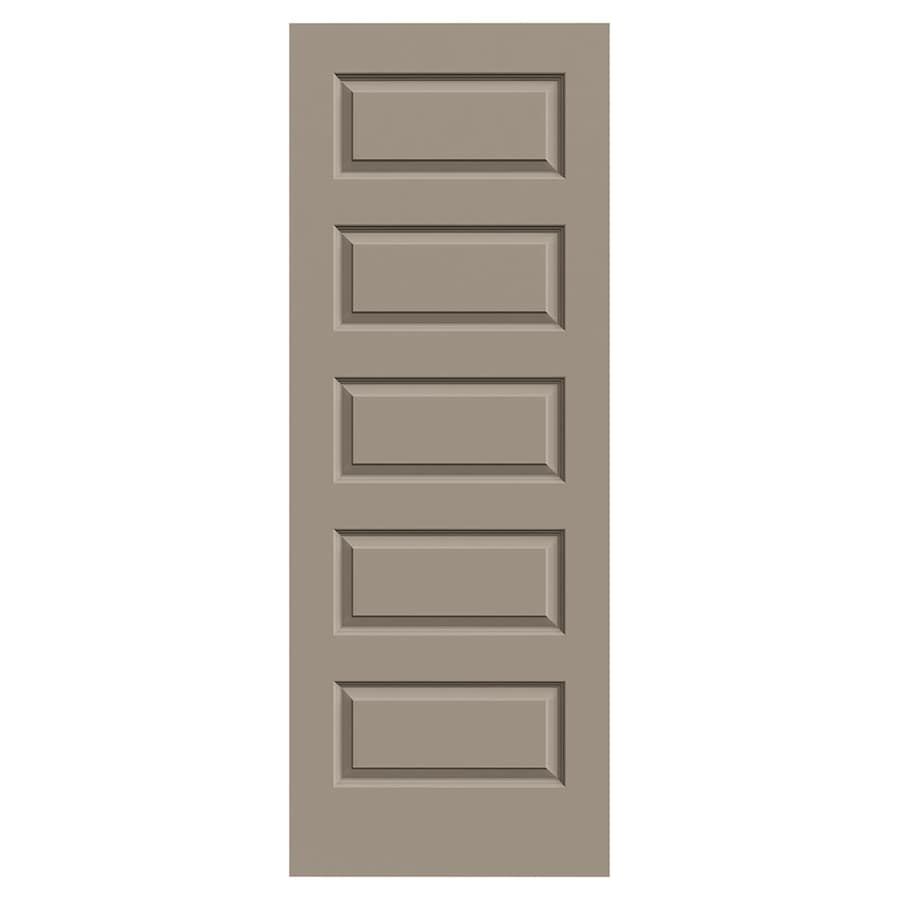 JELD-WEN Rockport Sand Piper Solid Core 5-Panel Equal Slab Interior Door (Common: 30-in x 80-in; Actual: 30-in x 80-in)