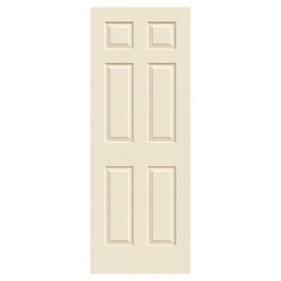 JELD-WEN Colonist Cream-N-Sugar Solid Core 6-Panel Slab Interior Door (Common: 30-in x 80-in; Actual: 30-in x 80-in)