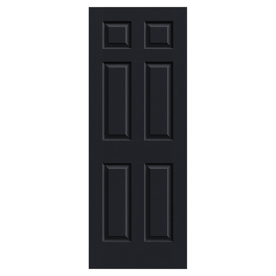 JELD-WEN Colonist Midnight Solid Core 6-Panel Slab Interior Door (Common: 30-in x 80-in; Actual: 30-in x 80-in)