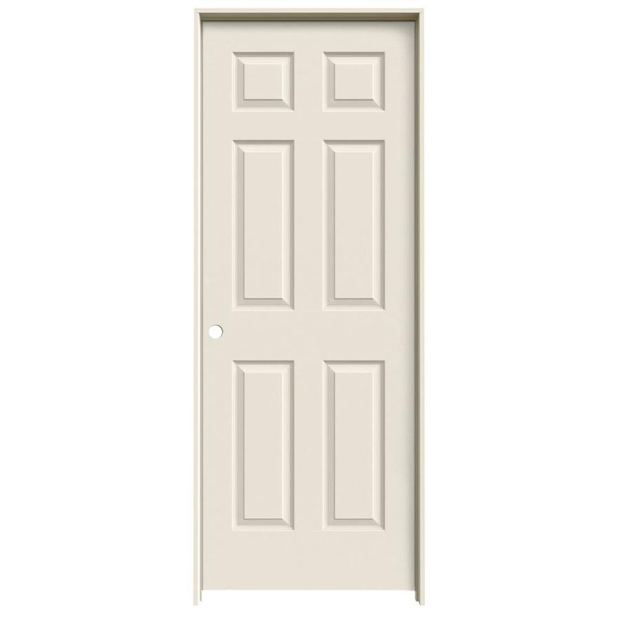 JELD-WEN 6-Panel Prehung Hollow Core 6-Panel Interior Door (Common: 24-in x 80-in; Actual: 25.5-in x 81.5-in)