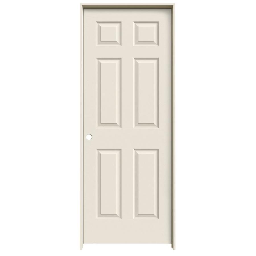 JELD-WEN 6-Panel Prehung Hollow Core 6-Panel Interior Door (Common: 32-in x 80-in; Actual: 33.5-in x 81.5-in)