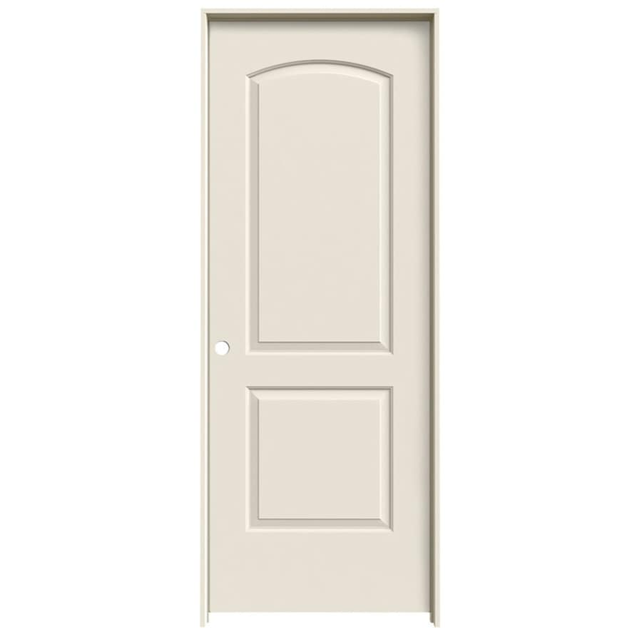 JELD-WEN 2-Panel Round Top Prehung Hollow Core 2-Panel Round Top Interior Door (Common: 32-in x 80-in; Actual: 33.5-in x 81.5-in)