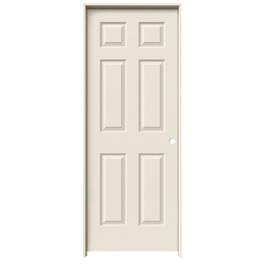 JELD-WEN 6-Panel Prehung Hollow Core 6-Panel Interior Door (Common: 18-in x 80-in; Actual: 19.5-in x 81.5-in)