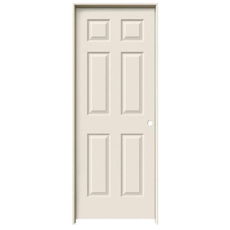 JELD-WEN 6-Panel Prehung Hollow Core 6-Panel Interior Door (Common: 34-in x 80-in; Actual: 35.5-in x 81.5-in)