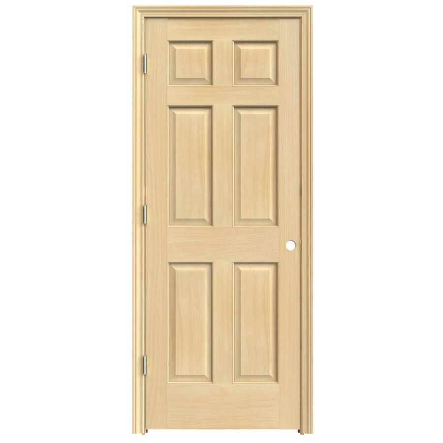 JELD-WEN 6-Panel Prehung Solid Core 6-Panel Pine Interior Door (Common: 36-in x 80-in; Actual: 37.5-in x 81.5-in)