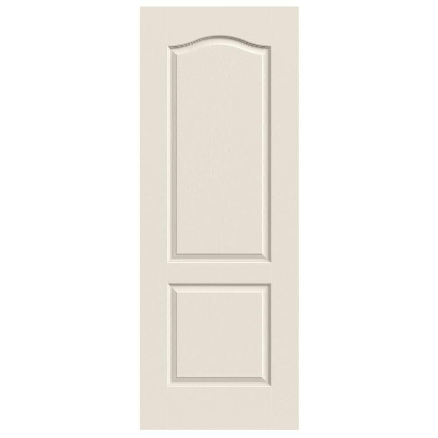 JELD-WEN (Primed) Hollow Core 2-Panel Arch Top Slab Interior Door (Common: 28-in x 80-in; Actual: 28-in x 80-in)