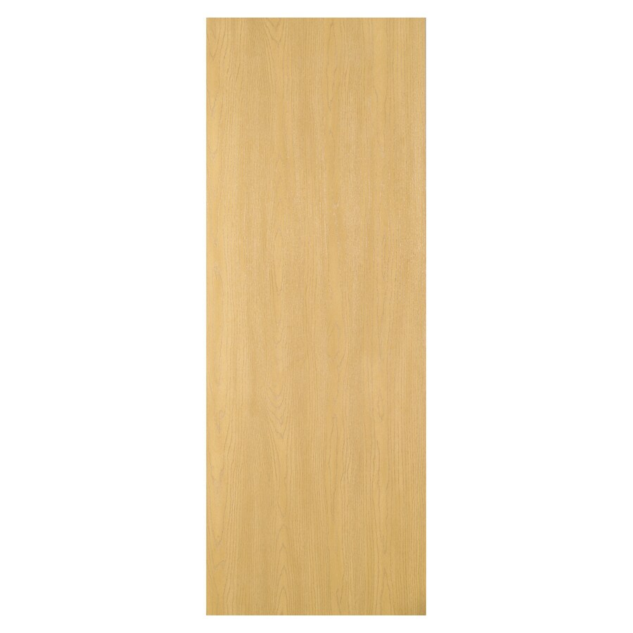 ReliaBilt 24-in x 80-in Flush Oak Solid Core Hollow Non-Bored Interior Slab Door