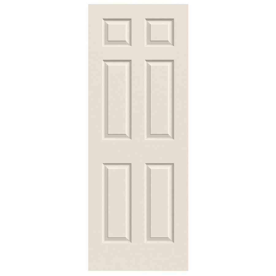 JELD-WEN (Primed) Solid Core 6-Panel Slab Interior Door (Common: 24-in x 80-in; Actual: 24-in x 80-in)