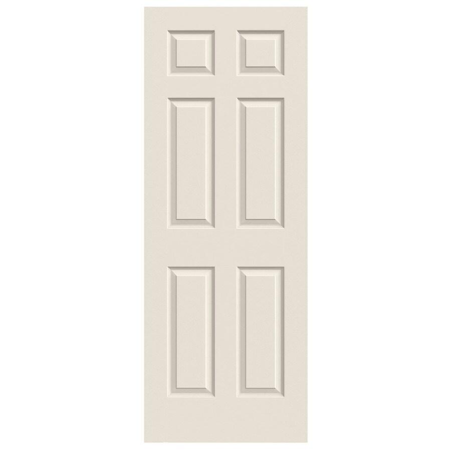 JELD-WEN (Primed) Solid Core 6-Panel Slab Interior Door (Common: 32-in x 80-in; Actual: 32-in x 80-in)
