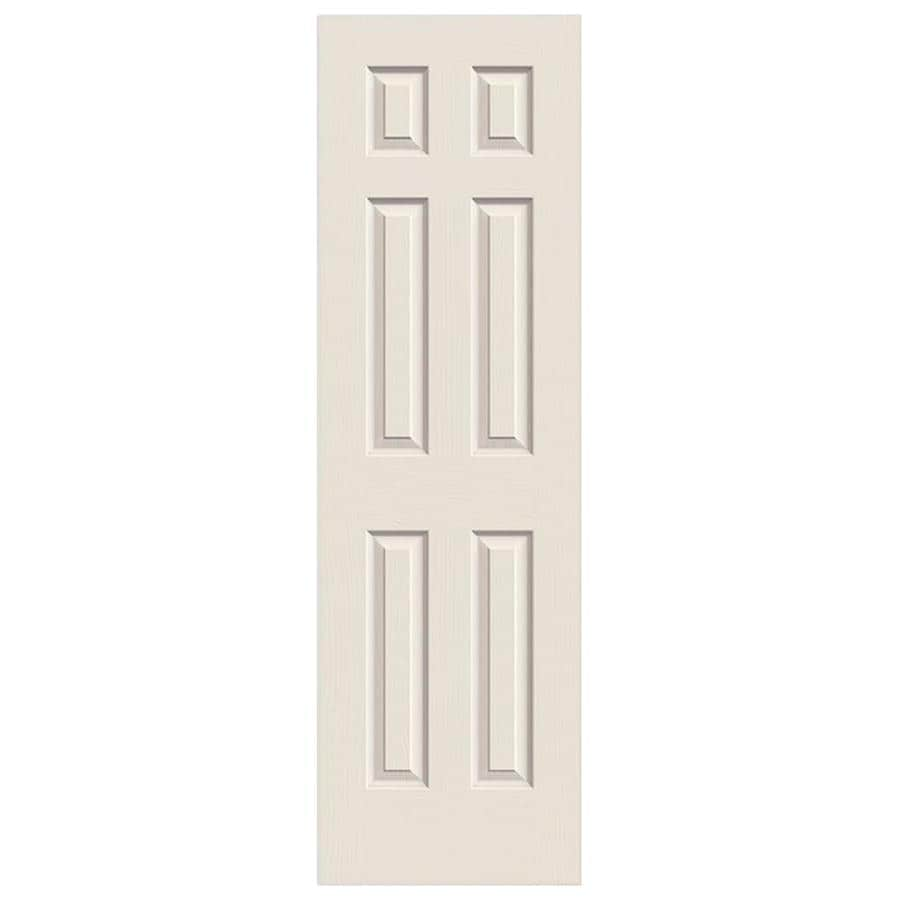 ReliaBilt 6-Panel Hollow Core Textured Bored Interior Slab Door (Common: 24-in x 80-in; Actual: 24-in x 80-in)