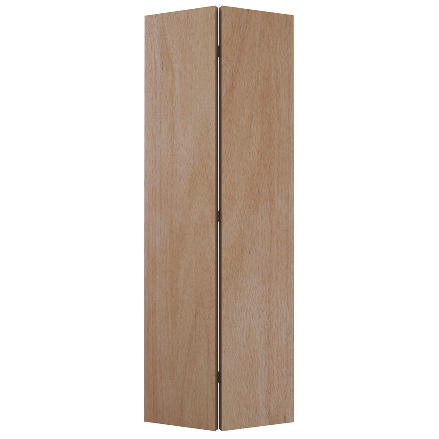 ReliaBilt 24-in x 80-1/2-in Flush Hollow Core Lauan Interior Bifold Closet Door