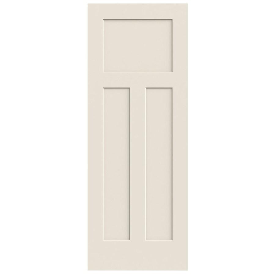 JELD-WEN (Primed) Solid Core 3-Panel Craftsman Slab Interior Door (Common: 24-in x 80-in; Actual: 24-in x 80-in)