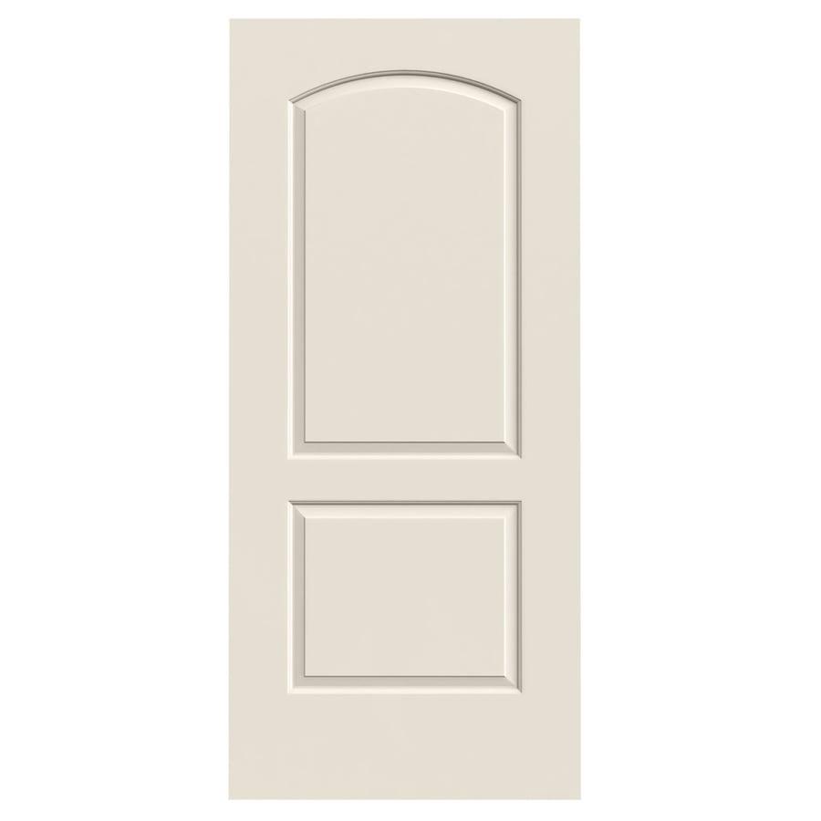 JELD-WEN (Primed) Solid Core 2-Panel Round Top Slab Interior Door (Common: 36-in x 80-in; Actual: 36-in x 80-in)