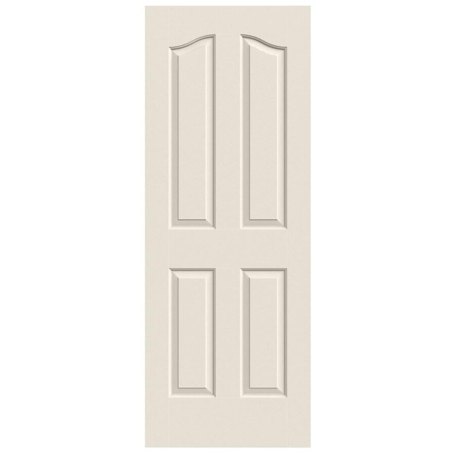 JELD-WEN (Primed) Hollow Core 4-Panel Arch Top Slab Interior Door (Common: 30-in x 80-in; Actual: 30-in x 80-in)